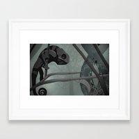 chameleon Framed Art Prints featuring Chameleon by Andrew Formosa