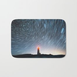 Lighthouse in the Stars Bath Mat