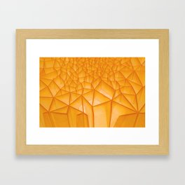 Geometric Plastic Framed Art Print