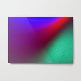 Rainbow colour waves Metal Print