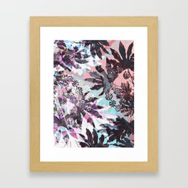 Tropical Adventure in Pink Framed Art Print