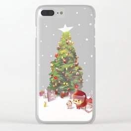 Christmas Tree Clear iPhone Case