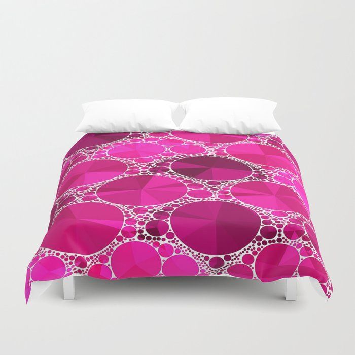 Hot Pink  Bling Pattern  Duvet Cover