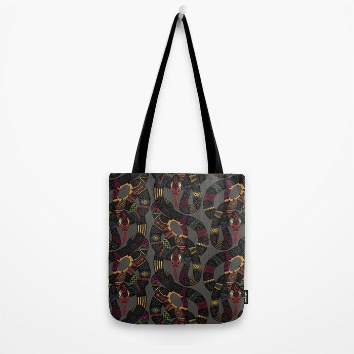 geo snakes lead Tote Bag