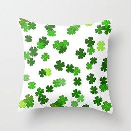 Shamrocks Falling - Pattern for Saint Patricks Day Throw Pillow