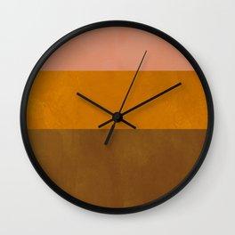 Patina Color Block Rose Gold Wall Clock