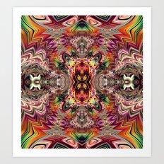 BBQSHOES™ Fractal Digital Art Design 1173A Art Print