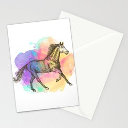 Colorful Horse Gift Horse Lovers Racing Riding Stationery Cards