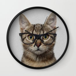 Hipster Cat Wall Clock
