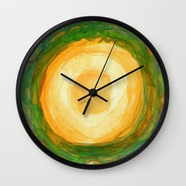 The green Wreath Wall Clock