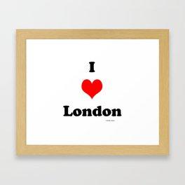 I love London Framed Art Print