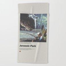 Jurassic Park Film Poster No 3 Beach Towel