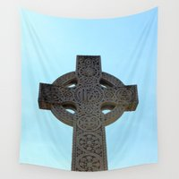 cross Wall Tapestries featuring Cross by Megan Phillips