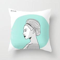 Profile B Throw Pillow