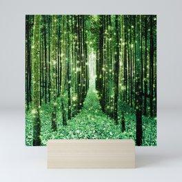 Magical Forest Green Elegance Mini Art Print