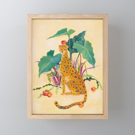 Cheetah and Apples Framed Mini Art Print