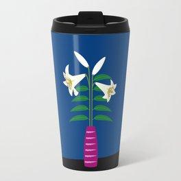Lily In A Vase Travel Mug
