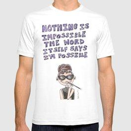Audrey Hepburn Quote T-shirt