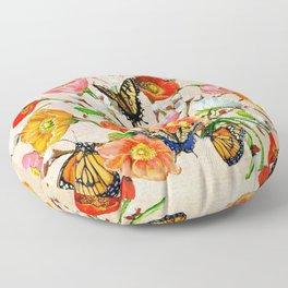 Butterfly Bouquet  Floor Pillow