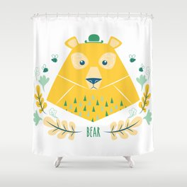 Scandi Bear Shower Curtain