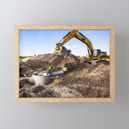 Construction work progresses on Phase I of Exploration Park at NASAs Kennedy Space Center in Florida Framed Mini Art Print