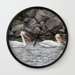 American White Pelican Wall Clock