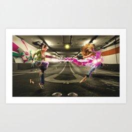 Turf Wars Art Print