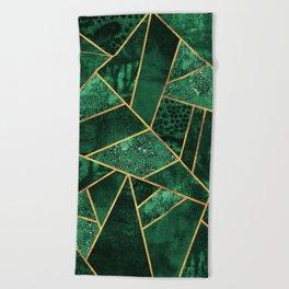Deep Emerald Beach Towel