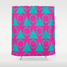 Triangles and honeycombs pattern Shower Curtain