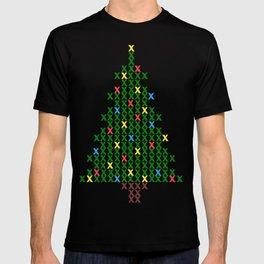 Cross Stitch Christmas Tree T-shirt