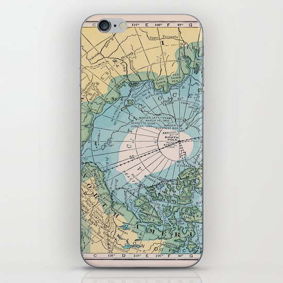 Vintage Arctic Map iPhone & iPod Skin