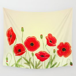 Watercolor poppies Wall Tapestry