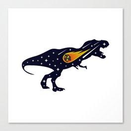 Dinosaur and meteorite strike #society6 #decor #buyart #artprint Canvas Print