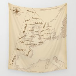 Vintage Style shipping forecast key Wall Tapestry