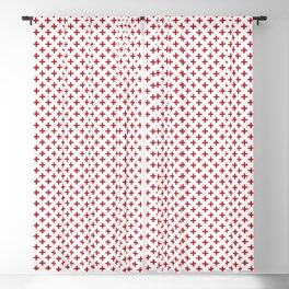 Criss Cross | Plus Sign | Red and White Blackout Curtain