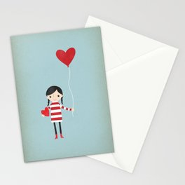 Love is in the Air - Girl Stationery Cards