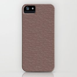 in bloom : hand letter iPhone Case
