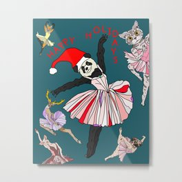 Hipster Holiday Ballerinas Metal Print