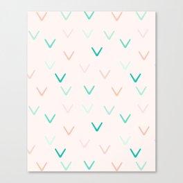 Blush and Mint Minimalism Arrows Canvas Print