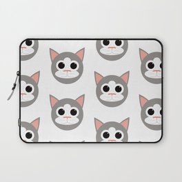 Grey & White Cats Pattern Laptop Sleeve