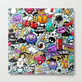 graffiti fun Metal Print