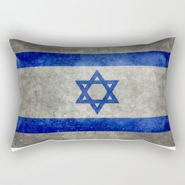 Flag of the State of Israel - Distressed worn patina Rectangular Pillow
