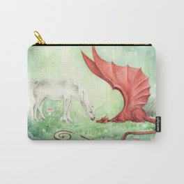Unicorn and Dragon Carry-All Pouch