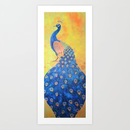 Peacock - The Protector Art Print