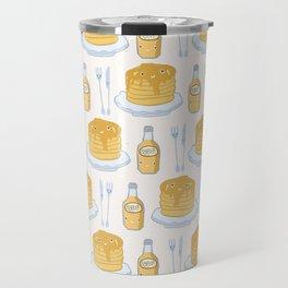 Cute vector pancake day breakfast illustration Travel Mug