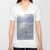 alaska V-neck T-shirts featuring Alaska by Chris Root