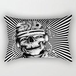 Skelenaut V2 (Black & White) Rectangular Pillow