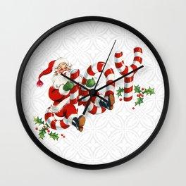 Retro Santa- Christmas Joy! Wall Clock