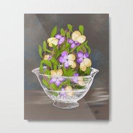 Flowers in a bowl Metal Print