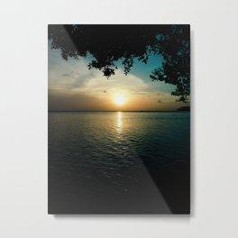 Sunset From L.G. Smith Boulevard, Aruba Metal Print